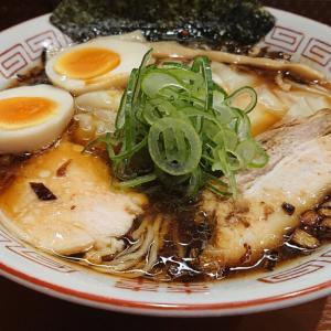 JR稲毛駅から徒歩1分、大衆中華そば喜楽 たっぷりワンタンに焦がしねぎの風味が満載、中華そばを食べてみた