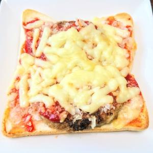 チーズハンバーグトースト♡