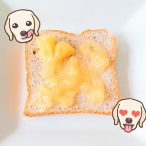 アヲハタ の まるごと果実 白桃 ジャム で ピーチトースト♡