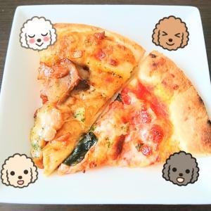 イオンで買ったバジル香る手伸ばし本格風マルゲリータ &もっちり生地の照り焼きチキンピザ♪