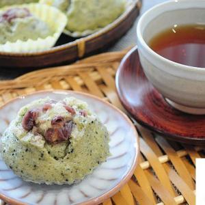 よもぎ蒸しパンとほうじ茶でおうちカフェ