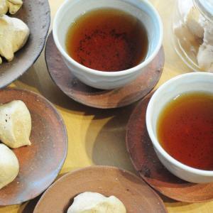 抹茶クロカンとほうじ茶