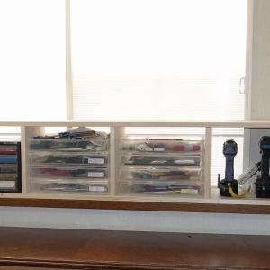 出窓にワンバイフォーで道具棚を作ろう