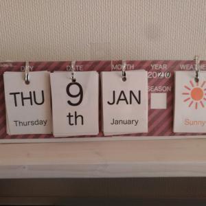 英語万年カレンダーを作ってみました