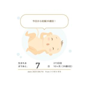 出産、産後の痛み対策     出産予定日まで  あと7日