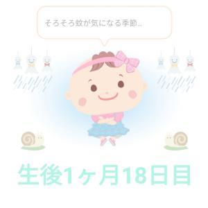 産後1ヶ月18日目   関東梅雨入りと蚊対策