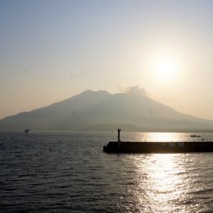 天文館で鹿児島ラーメンを頂き、早朝の桜島の風景を眺める☆鹿児島旅行記【2014.2.22-23】