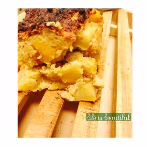 グルテンフリー・卵牛乳バターなし!さつまいもとりんごの栄養満点ケーキ