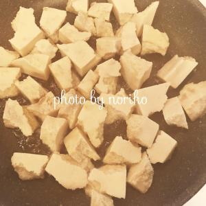 親子で簡単料理:韓国風:ヤンニョムソースのもっちり高野豆腐