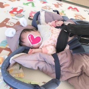 【2m15d】ミニちぃ初めての朝寝?