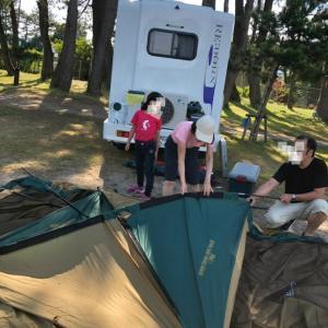 滋賀県奥琵琶湖の知内浜でキャンプしてきました~!その2