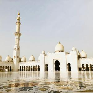 アブダビの世界一豪華なモスクを観光したときの動画を作りました!(3分強)