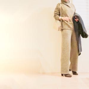 寒いとますます着たくなる!最愛のニットパンツとお揃いカラーの絶妙丈ニットプルオーバー