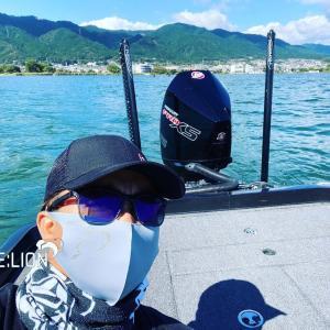 今日は琵琶湖で1人プラ❣️