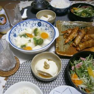 梅雨の不調!?麦ご飯とポークロールでノンアル晩ご飯