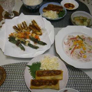 竹輪リングの天ぷらと我家丼、瀬戸内レモンのシュークリーム