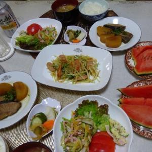ブリ大根で晩ご飯、姫まくら西瓜🍉と、新旧あるある!