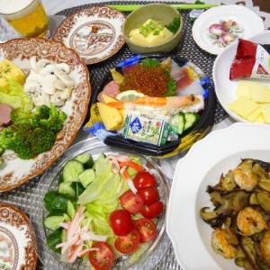 休日晩ご飯と自家製スープストック・ベジブロス