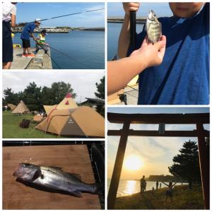 【釣りキャンプ】広浦公園キャンプ場でハゼ・スズキを釣って食う!