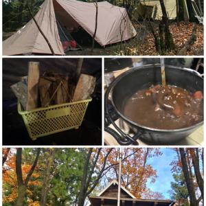 【雨キャンプ】キャンプ冒険仲間で今シーズンの冒険納め!(感謝企画)