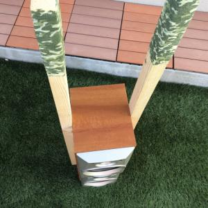【製作費 900円】ノコギリを一切使わない転圧機タンパーの自作DIY【木材カットも無し】