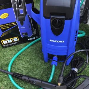 擁壁やコンクリート清掃に高圧洗浄機を購入しました「日立工機 (HiKoki) FAW105」