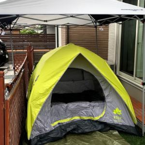 庭キャンプでテント泊をしましたが、色々大変でした・・・