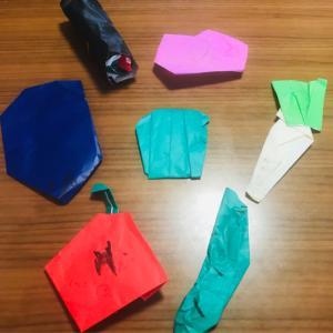 梅雨時期のお部屋遊びに~3歳児の折り紙 モンテッソーリ本を参考に~