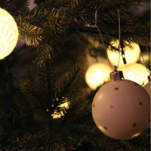 <クリスマスインテリア>ツリーを出しました。ニトリでクリスマスグッズたくさん購入