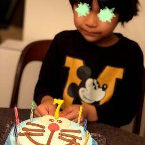 息子、7歳誕生日と味噌の天地返し
