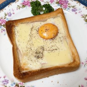 クロックマダム風トースト