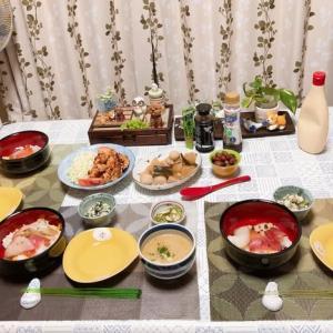 小松菜の白和え&唐揚げや煮物など