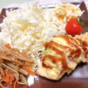 鉄板焼き&ハム巻卵天ぷら