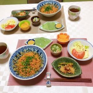 汁なし担々麵&タケノコと野菜の炒め物