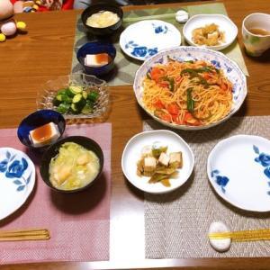 ジューシーなナポリタン&さくらんぼ餅