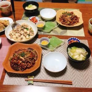 日清の太麺焼きそば&豆腐とひき肉の山椒炒め