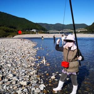 【みなぎる男の熊野川】いつまで釣れますか?