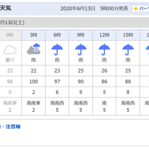 6月13日㈯AM5:00の有田川ダム上画像