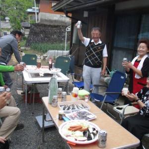 増水の有田川ダム上に今日(9/9)釣りに行った人がいる( ゚Д゚)
