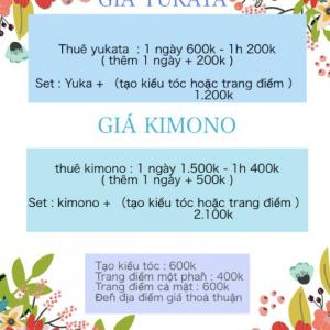 dịch vụ cho thuê Yukata và kimono