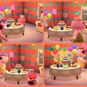#あつまれどうぶつの森 プレイ日記その100:アップルちゃんの誕生日! #どうぶつの森