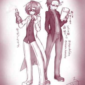 ヴィッセンさんといちご大福さん描いたよ!(ファンアです)