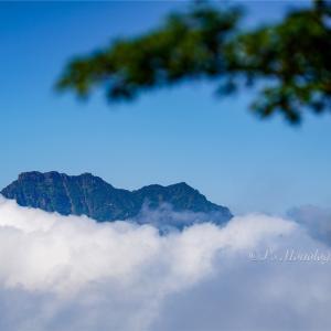雲の上に浮かぶ西日本最高峰の山