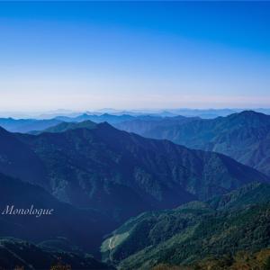 遠くに広がる山々