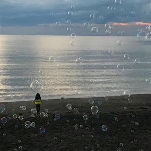 夕方のシャボン玉海岸。。。♪ @館山