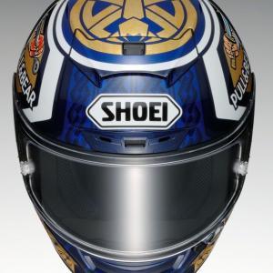超人気ヘルメット再入荷!SHOEI X-Forteenマルケス モテギ3ございます!