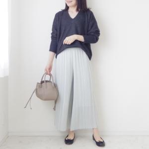 【ユニクロ新作】忙しい女性の味方!きれいめスカートパンツ【UNIQLO】