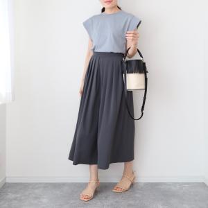 【ユニクロ】涼しく秋感!クレープジャージースカートパンツ【UNIQLO】