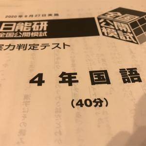 日能研 全国公開模試 自己採点結果