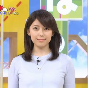 【女子アナ】上村彩子アナ、「S☆1」ニットお〇ぱいがたまらんw